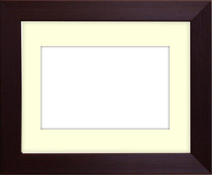 水彩額 1530/ダークブラウン 水彩F8(455×380mm)専用 ☆前面ガラス仕様☆マット付き