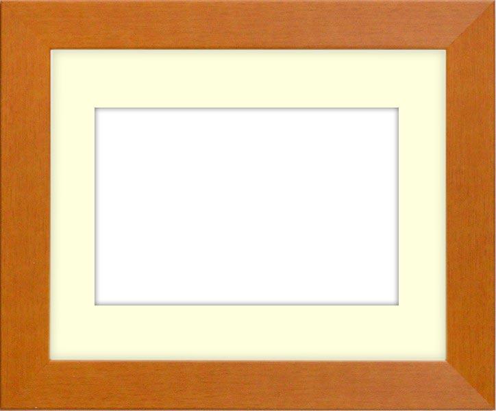 水彩額 1530/チーク 水彩F8(455×380mm)専用 ☆前面ガラス仕様☆マット付き