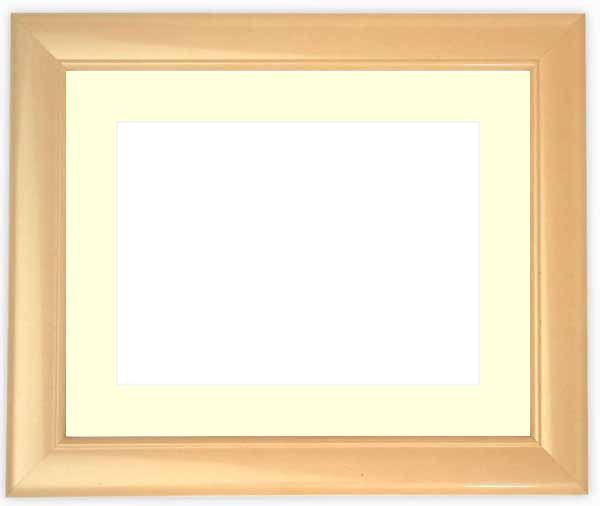 水彩額 5590/パールピンク 水彩F8(455×380mm)専用 ☆前面ガラス仕様☆マット付き