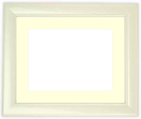 水彩額 5590/パールホワイト 水彩F8(455×380mm)専用 ☆前面ガラス仕様☆マット付き