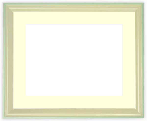水彩額 5654/パールブルー 水彩F8(455×380mm)専用 ☆前面ガラス仕様☆マット付き