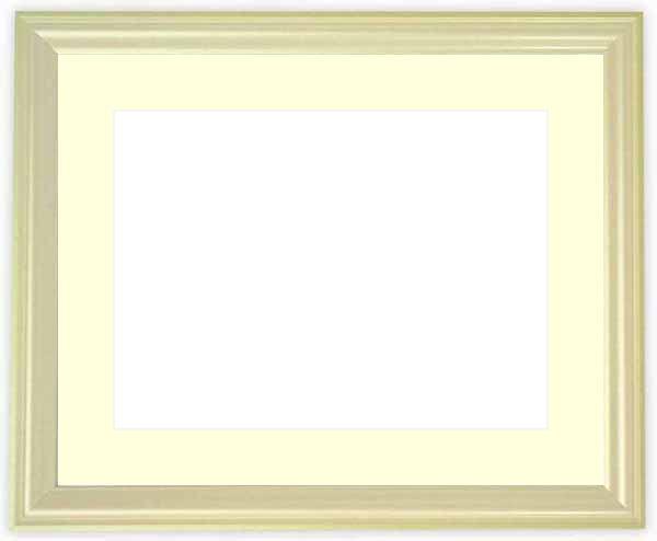 水彩額 5654/パールグリーン 水彩F8(455×380mm)専用 ☆前面ガラス仕様☆マット付き