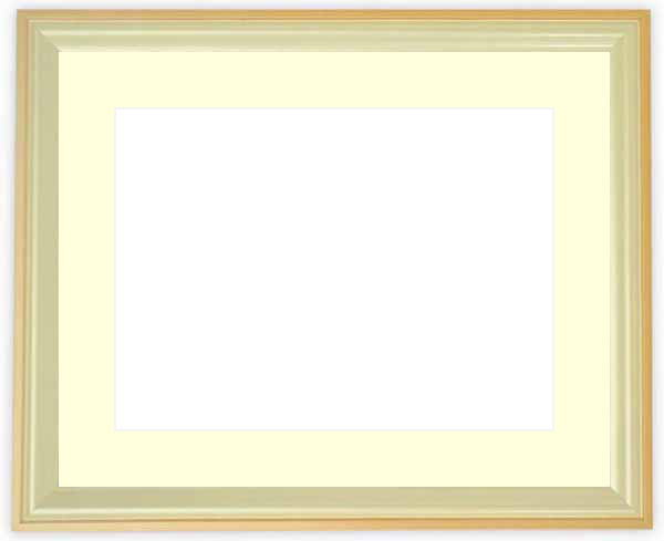 水彩額 5654/パールオレンジ 水彩F8(455×380mm)専用 ☆前面ガラス仕様☆マット付き