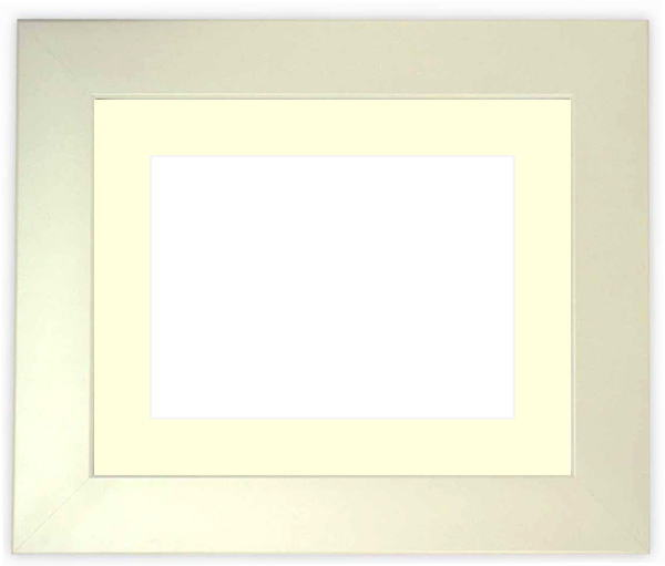 水彩額 5659/パールホワイト 水彩F8(455×380mm)専用 ☆前面ガラス仕様☆マット付き