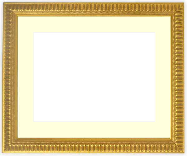 写真用額縁 9602/ゴールド パノラマ(254×89mm)専用☆前面ガラス仕様☆マット付き【写真額縁】