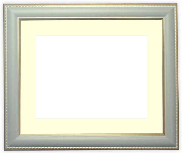 水彩額 9614/グレー 水彩F8(455×380mm)専用 ☆前面ガラス仕様☆マット付き