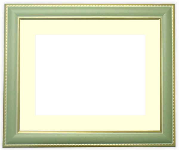 水彩額 9614/グリーン 水彩F8(455×380mm)専用 ☆前面ガラス仕様☆マット付き