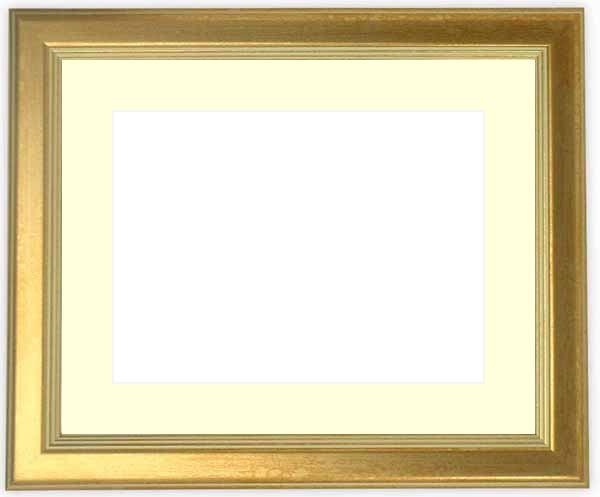 写真用額縁 9564/ゴールド パノラマサイズ(254×89mm)専用 ☆前面ガラス仕様☆マット付き【写真額縁】