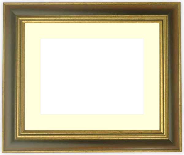 水彩額 9573/Gブラウン 水彩F8(455×380mm)専用 ☆前面ガラス仕様☆マット付き