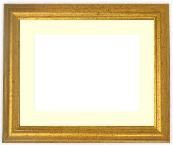 水彩額 9580/ゴールド 水彩F8(455×380mm)専用 ☆前面ガラス仕様☆マット付き
