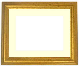 写真用額縁 9580/ゴールド A4(297×210mm)専用☆前面アクリル仕様☆マット付き【絵画/壁掛け/インテリア/玄関/アートフレーム】