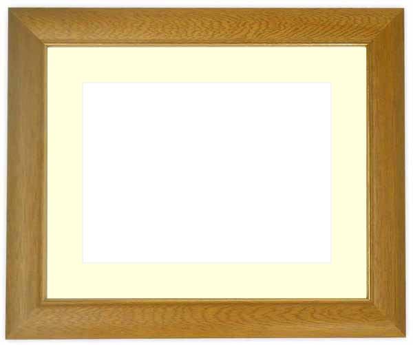 水彩額 30009/木地 水彩F8(455×380mm)専用 ☆前面ガラス仕様☆マット付き