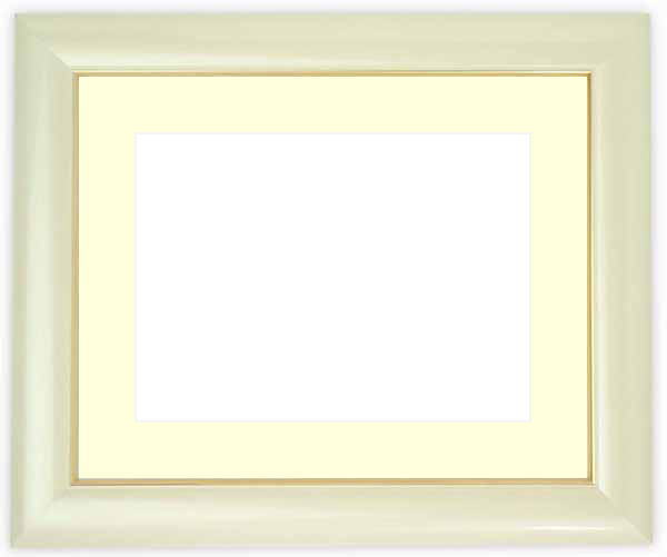水彩額 30009/パールホワイト 水彩F8(455×380mm)専用 ☆前面ガラス仕様☆マット付き
