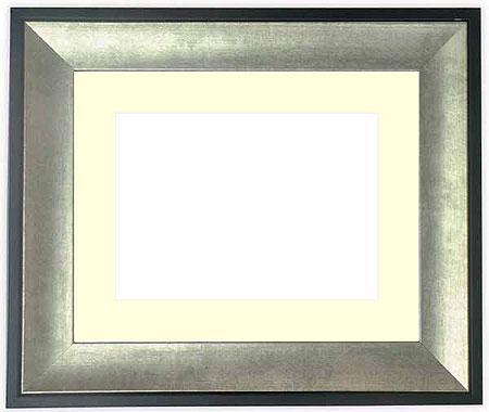 水彩額 GR-1903/シルバー 水彩F8(455×380mm)専用 ☆前面ガラス仕様☆マット付き