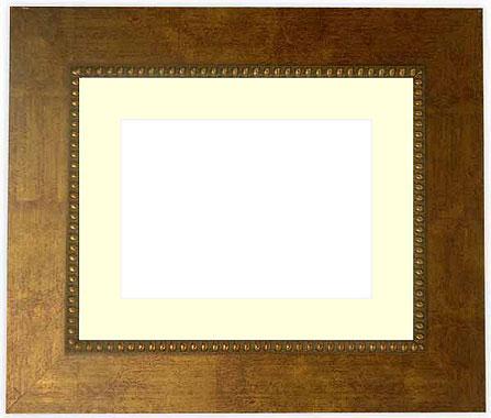 写真用額縁 HQ805/ゴールド 写真八つ切(216×165mm)専用【写真額】☆前面ガラス仕様☆マット付き【写真額縁】