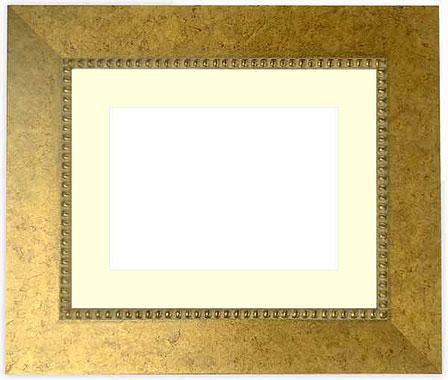 写真用額縁 HQ869/ゴールド パノラマ(254×89mm)専用【写真額】☆前面ガラス仕様☆マット付き【写真額縁】