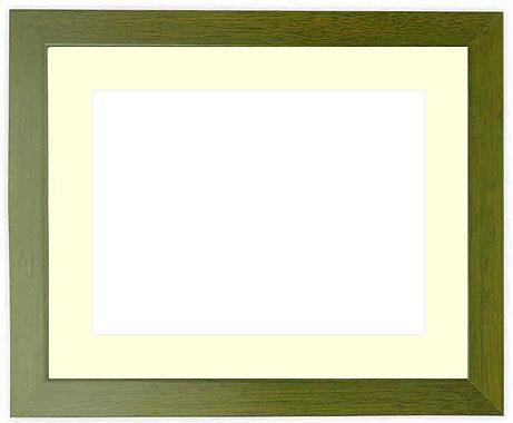 写真用額縁 歩-8/オリーブ A4(297×210mm)専用【写真額】☆前面ガラス仕様☆マット付き【写真額縁】