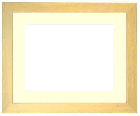 写真用額縁 歩-8/木地 A4(297×210mm)専用【写真額】☆前面ガラス仕様☆マット付き【写真額縁】