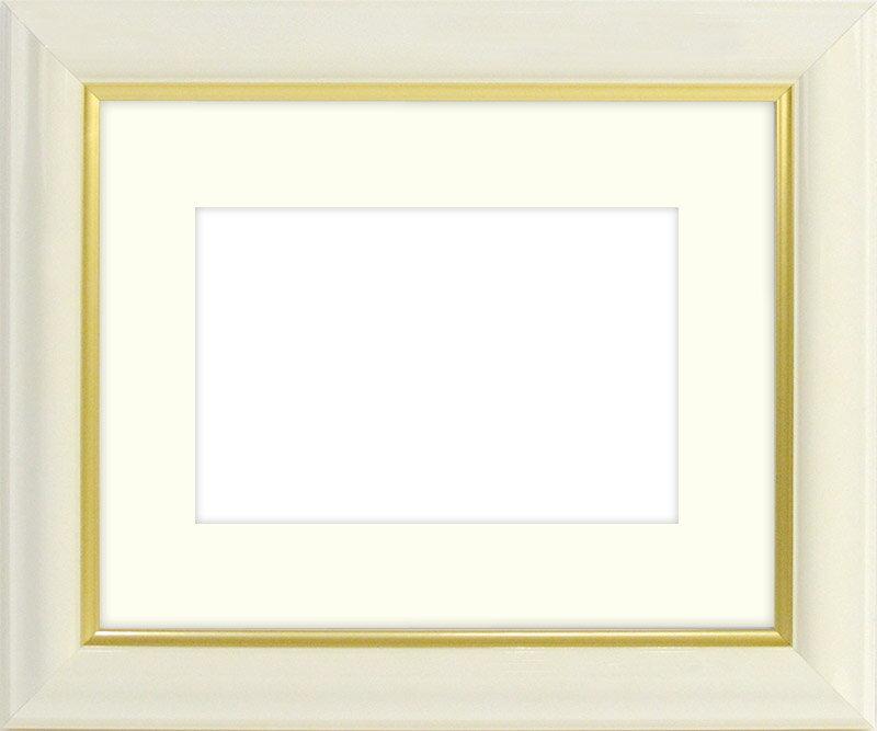 写真用額縁 工芸型/白 写真八つ切(216×165mm)専用【写真額】☆前面ガラス仕様☆マット付き【写真額縁】
