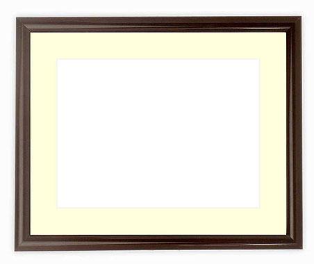 水彩額 713/タメツヤ有り 水彩F8(455×380mm)専用 ☆前面ガラス仕様☆マット付き