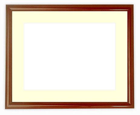 水彩額 713/赤タメ 水彩F8(455×380mm)専用 ☆前面ガラス仕様☆マット付き
