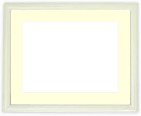 写真用額縁 713/白 写真八つ切(216×165mm)専用【写真額】☆前面ガラス仕様☆マット付き【写真額縁】