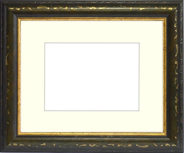 水彩額 9374/グリーン 水彩F6(410×318mm)専用 ☆前面ガラス仕様☆マット付き