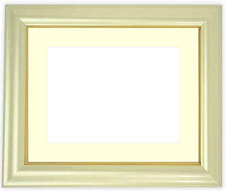 写真用額縁 工芸型/パールクリーム A4(297×210mm)専用【写真額】☆前面ガラス仕様☆マット付き【写真額縁】