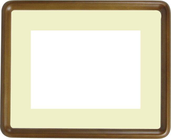 写真用額縁 D717/オーク A4サイズ(297×210mm)専用☆前面ガラス仕様☆マット付き
