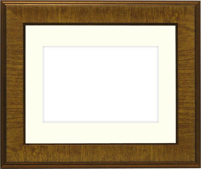 写真用額縁 8137/チーク パノラマ(254×89mm)専用☆前面ガラス仕様☆マット付き【写真額】