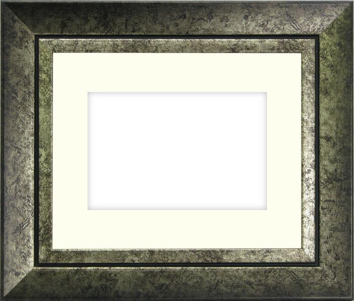 写真用額縁 シャドウ/シルバー パノラマ(254×89mm)専用☆前面ガラス仕様☆マット付き【写真額】