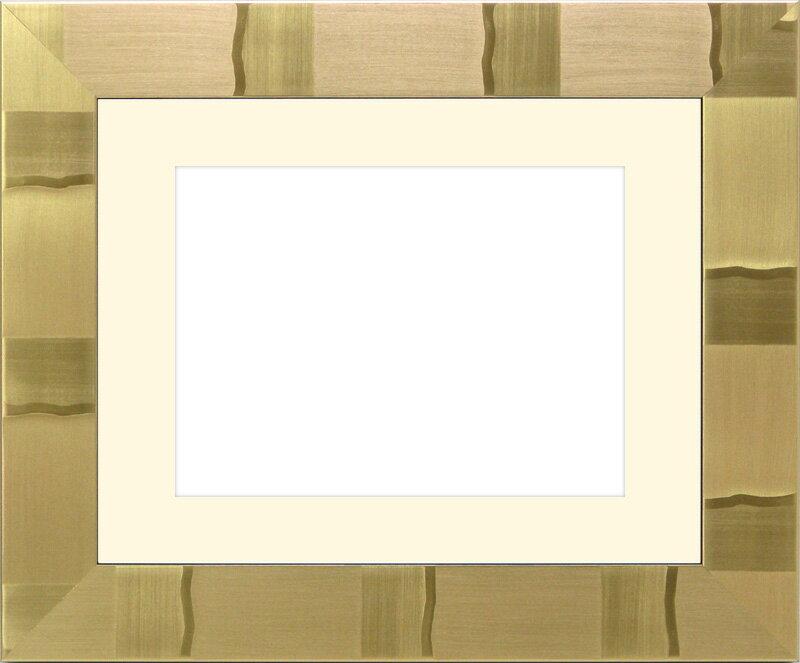 写真用額縁 エスポワール/ゴールド 写真半切(432×356mm)☆前面ガラス仕様☆マット付