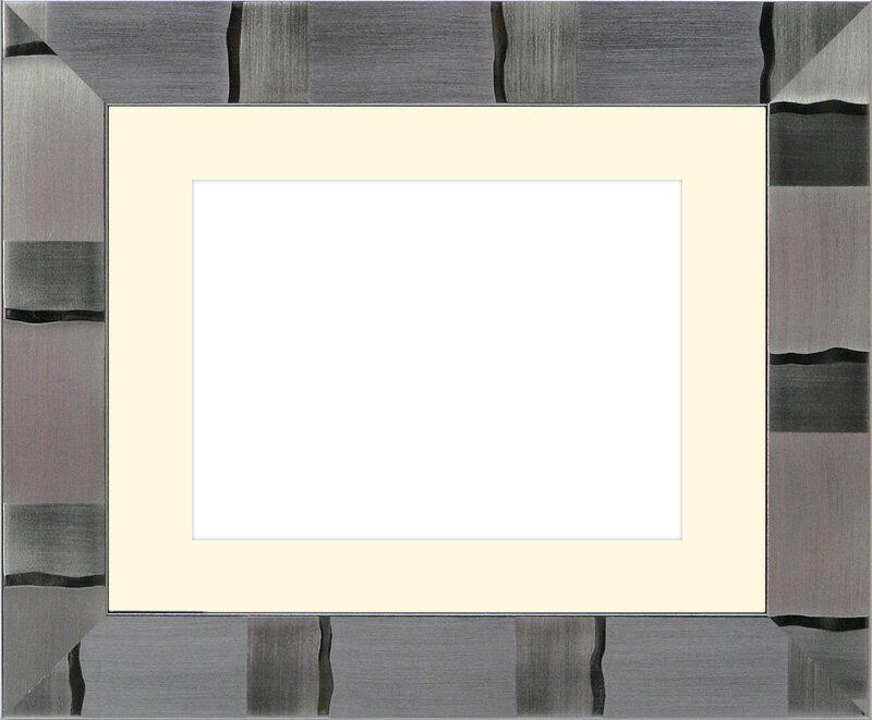 写真用額縁 エスポワール/シルバー 2Lサイズ(178×128mm)☆前面ガラス仕様☆マット付