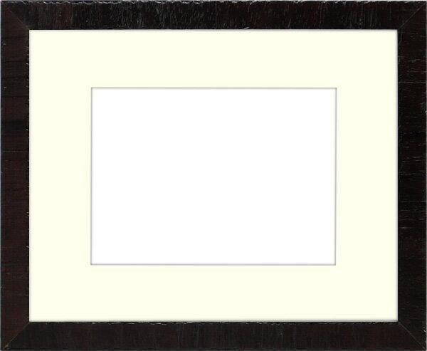 写真用額縁 カリマンタン/セピア 写真六つ切(254×203mm)専用 ☆前面ガラス仕様☆ マット付き【写真額】【絵画/壁掛け/インテリア/玄関/アートフレーム】