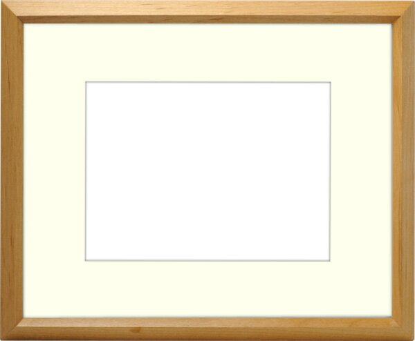 写真用額縁 D711/木地 キャビネ(180×130mm)専用 ☆前面ガラス仕様☆ マット付き【写真額】