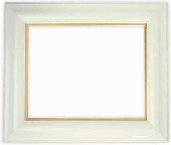 デッサン額縁 681/白 大全紙サイズ(727×545mm)☆前面ガラス仕様☆