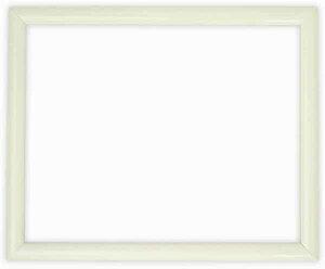 デッサン額縁 713/白 インチサイズ(254×203mm)☆前面ガラス仕様☆【絵画/壁掛け/インテリア/玄関/アートフレーム】