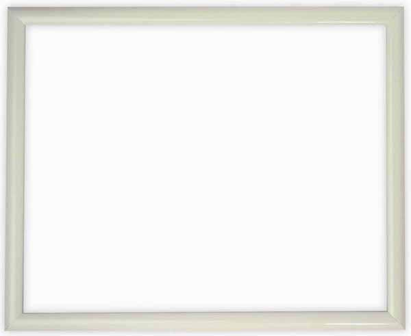 【キズ有り品】デッサン額縁 J型/白 インチサイズ(254×203mm) ☆前面ガラス仕様☆