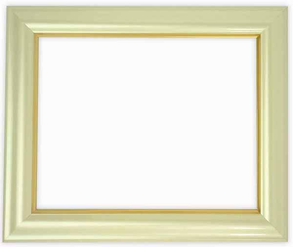 デッサン額縁 工芸型/パールクリーム A3サイズ(420×297mm)専用☆前面ガラス仕様☆