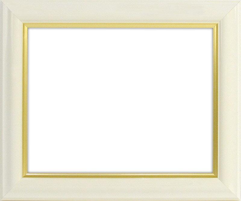デッサン額縁 工芸型/白 小全紙サイズ(660×509mm)☆前面ガラス仕様☆