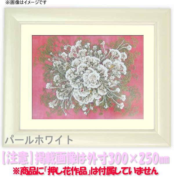 押し花額縁 5590/パールホワイト 大衣サイズ(ガラス506×391mm)【os-B】