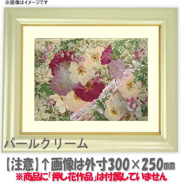 押し花額縁 工芸型/パールクリーム 大衣サイズ(ガラス506×391mm)【os-B】