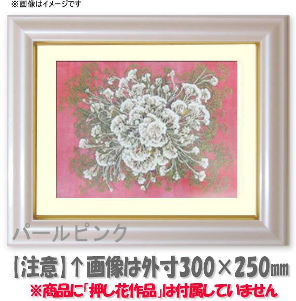 押し花額縁 工芸型/パールピンク 大衣サイズ(ガラス506×391mm)【os-B】