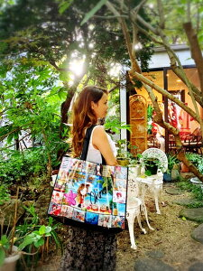 Nicole Lee ニコールリー ビニールバッグ エコバッグ ニコルリーのエコバッグ ニコールリーイラスト入りバッグ ニコールリートートバッグ 1,000円 送料込み 可愛いエコバック