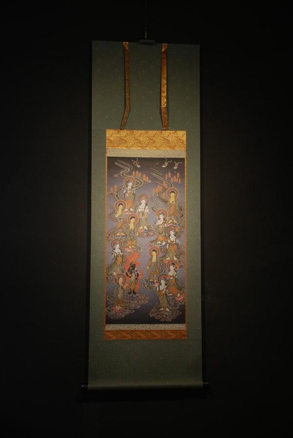 十三仏 仏画掛け軸(半切サイズ)