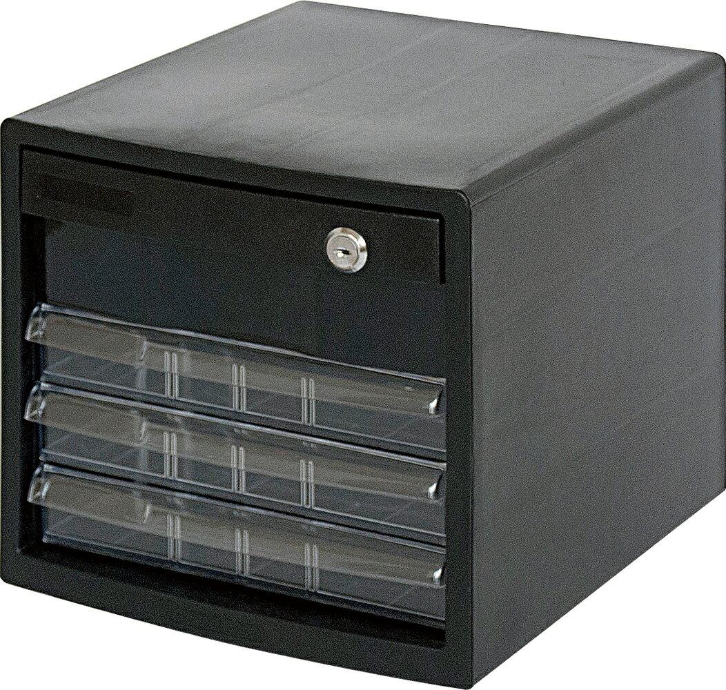 収納ボックス レターケース 書類ボックス 収納ケース 書類ケース 引き出し 書類収納 鍵付き A4E-SK4B