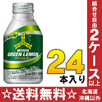 Asahi mitsuya green lemon 300 ml bottle cans 24 pieces [mitsu and saidaa mitsuya cider carbonated soft drinks.