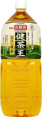 アサヒカルピス健茶王香ばし緑茶2Lペットボトル12本(6本入×2まとめ買い)