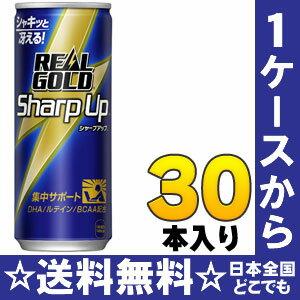 コカ・コーラ リアルゴールド シャープアップ 250ml缶 30本入〔エネルギー飲料 強炭酸 RealGold DHA ルテイン BCAA〕