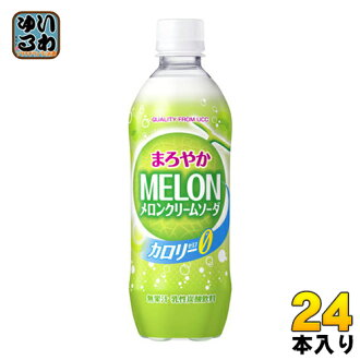 UCC mellow melon cream soda zero 500 ml pet 24 p []